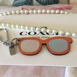 Coach Accessories - Coach Leather Keychain Key Fob glasses NWT